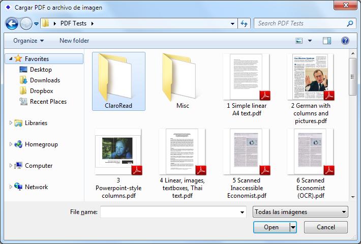 Función de escaneado (sólo Ediciones Plus y Pro)