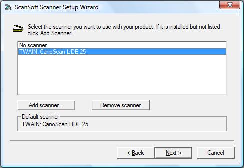 Scanner Setup Wizard