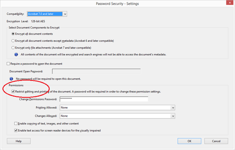 03 - permissions settings - default