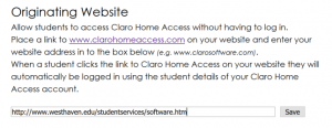 The simple form for identifying your site. There is a single text entry box, where you put the URL, and a Submit button.