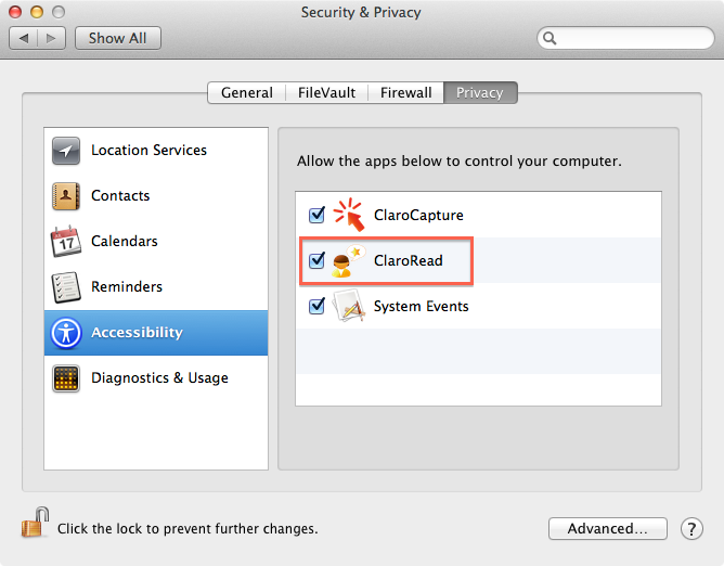 Security and Privacy Options