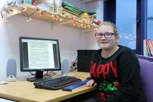 Sarah, a student at Hereford Sixth Form College, UK, and ClaroRead user
