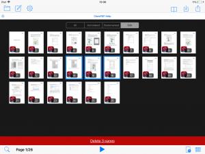 Deleting PDF pages in V2