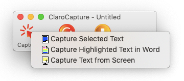 ClaroCapture from Screen