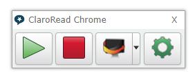 ClaroRead Chrome Toolbar Image