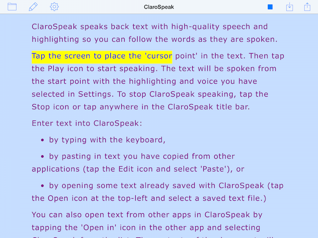 ClaroSpeak | Text to Speech Software | Claro Software